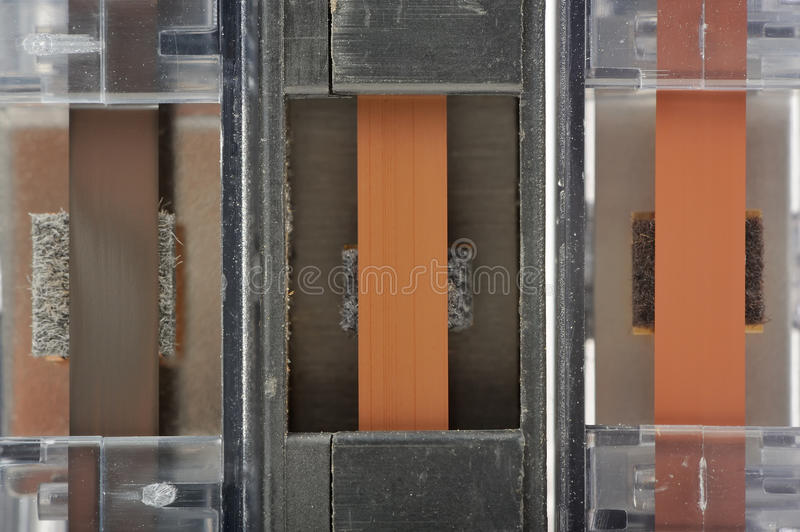 Cassette Tapes Close-Up stock photo