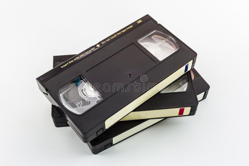 Cassette vidéo de VHS. photo stock