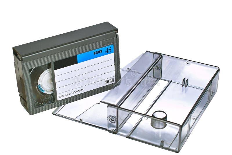 Cassette vidéo de VHS avec le cas photo stock