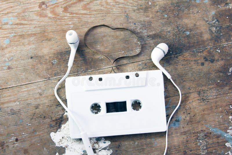 Cassetteband met headaet royalty-vrije stock foto