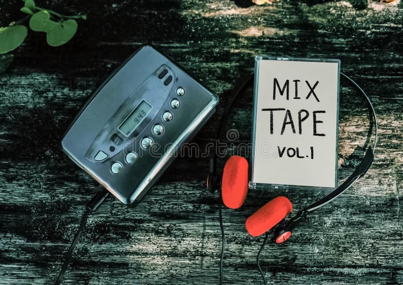 Cassetteband royalty-vrije stock foto's