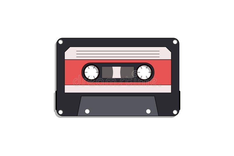Cassetteband - vlak ontwerp stock foto