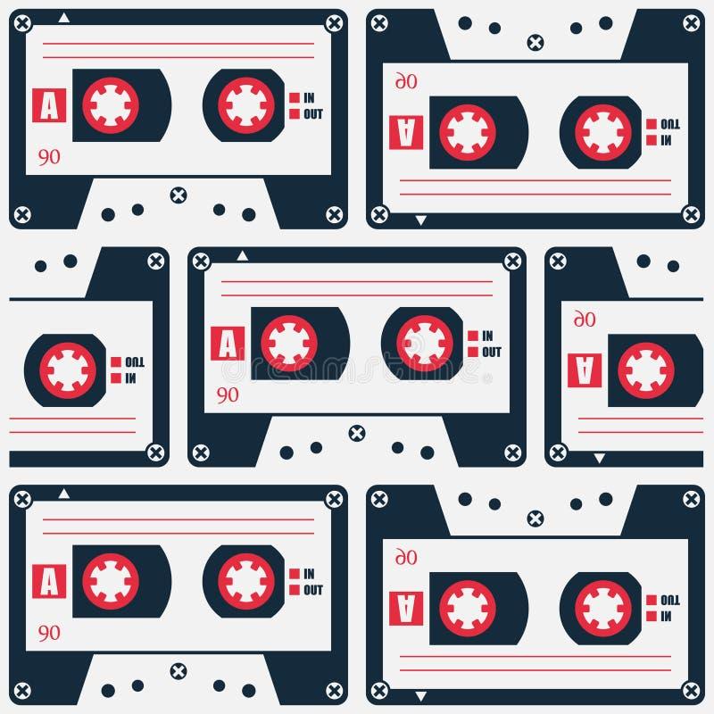 Cassettepatroon vector illustratie