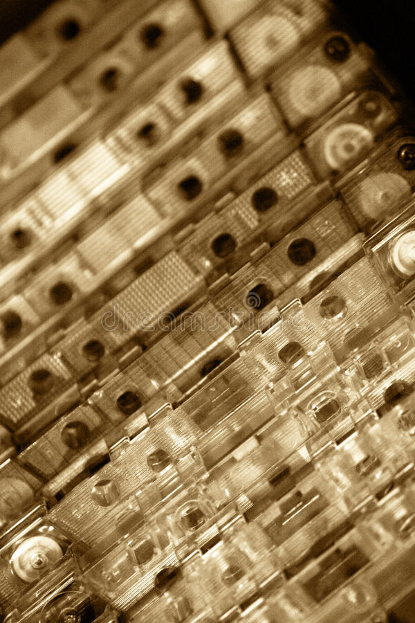 Cassettes imagen de archivo libre de regalías
