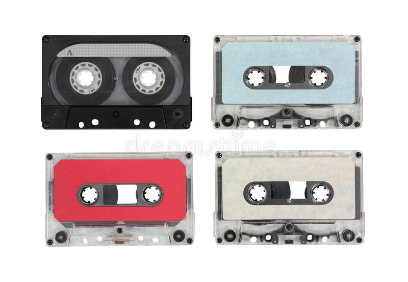 Cassettes audios en blanco de la vendimia imagen de archivo libre de regalías