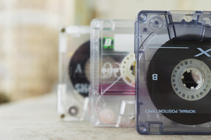 Cassettes sonores photo stock