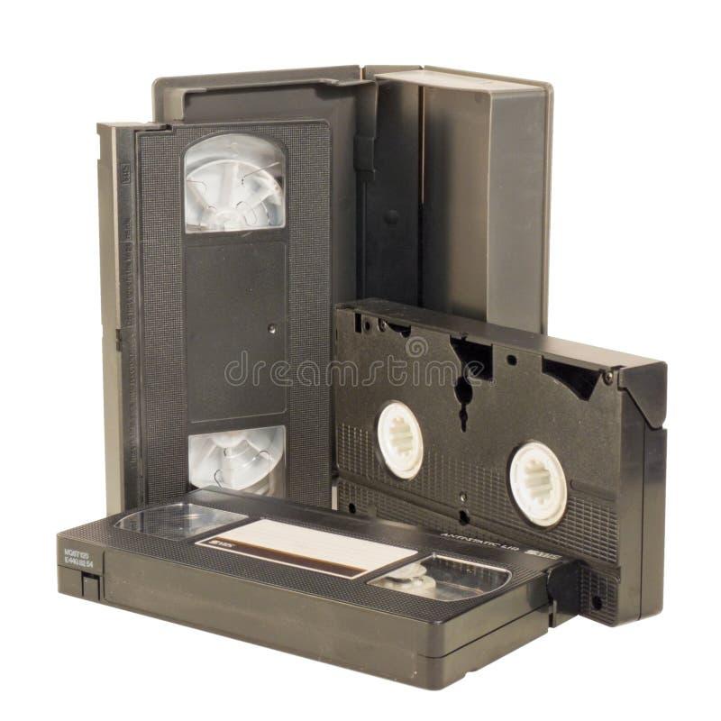 Cassettes vidéo de VHS images stock