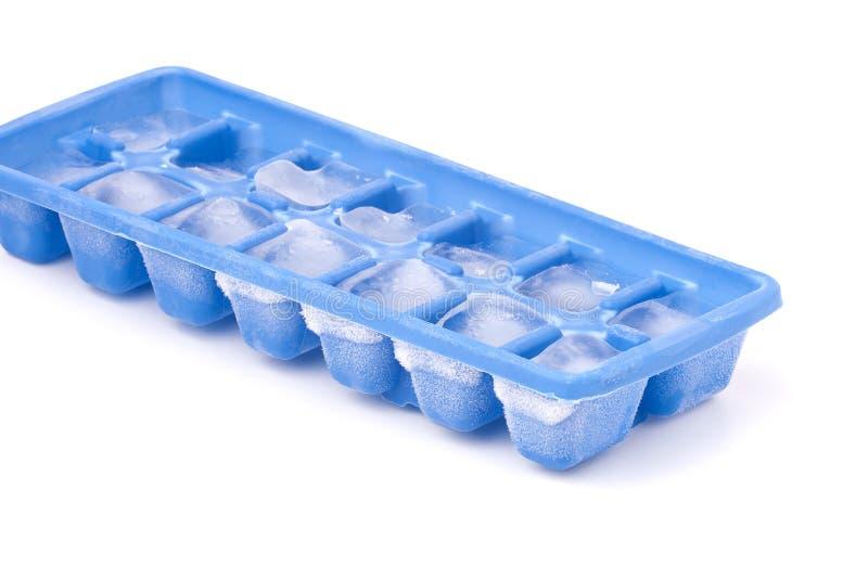 Cassetto congelato del cubo di ghiaccio immagini stock libere da diritti