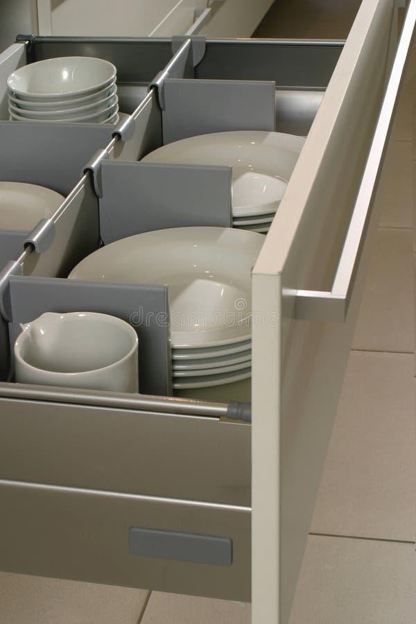Cassetto in una cucina moderna immagini stock libere da diritti