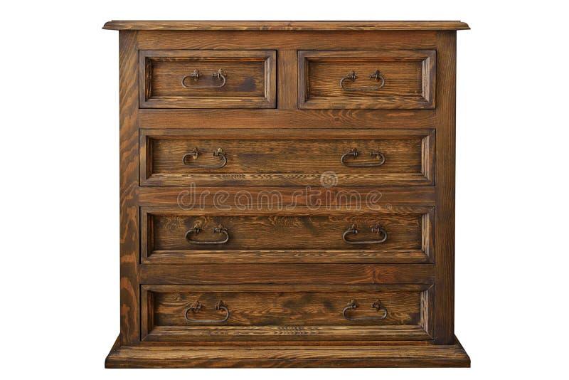 Cassettone di legno antico fotografia stock