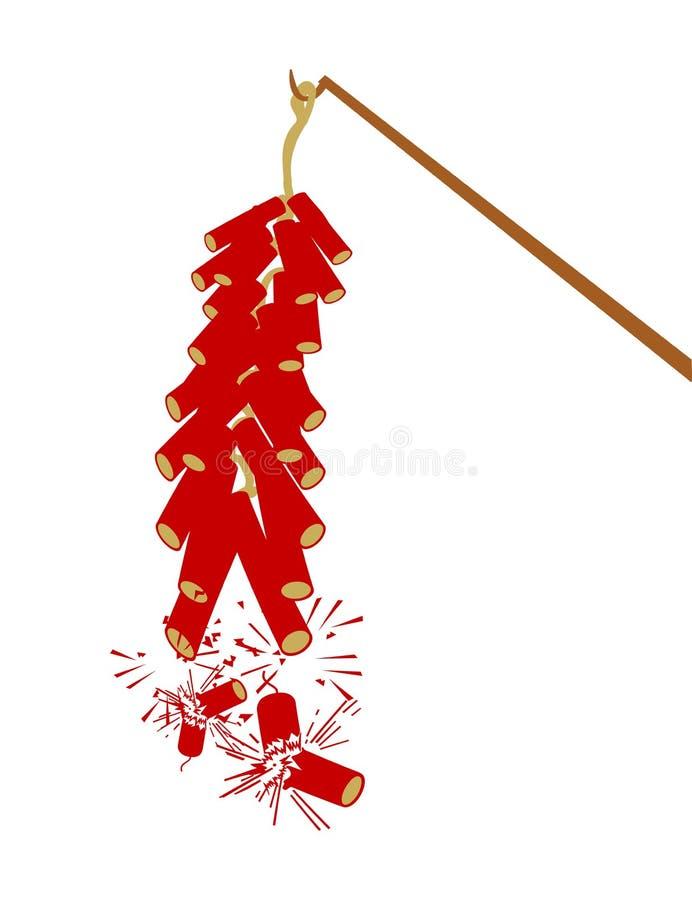 Casseur d'incendie pendant l'année neuve chinoise illustration de vecteur