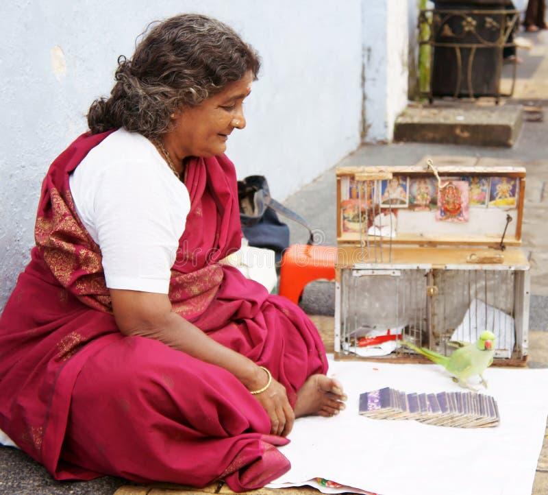 Cassiere di fortuna indiano fotografie stock libere da diritti