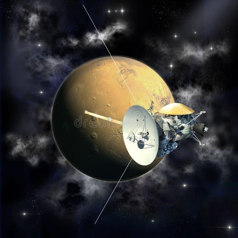 Cassini misi omijanie Mars ilustracja wektor