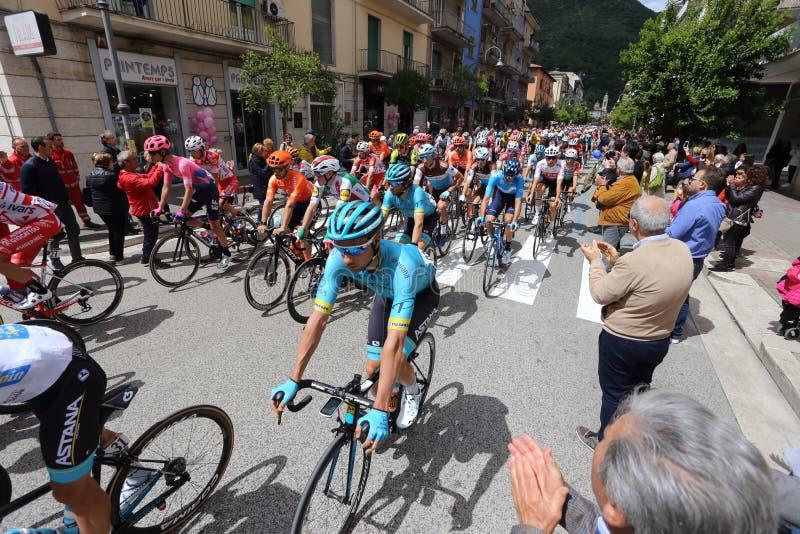 Cassino, Italien - 16. Mai 2019: das in der sechsten Phase des 102. Ausflugs von Italien Cassino-San Giovanni stockfotos