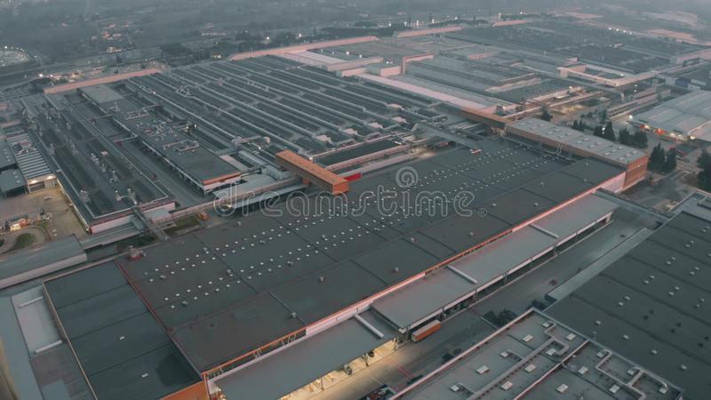 CASSINO, ITALY - DECEMBER 28, 2018. Aerial view of FCA Italy S.p.A. Cassino car plant royalty free stock photography