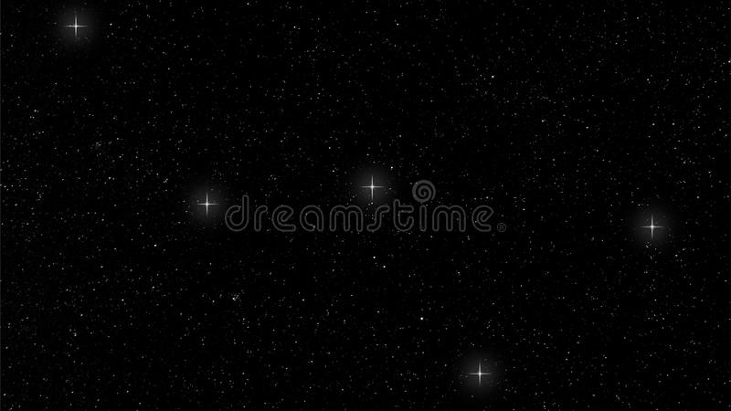 Cassiopeia constellation stock photography