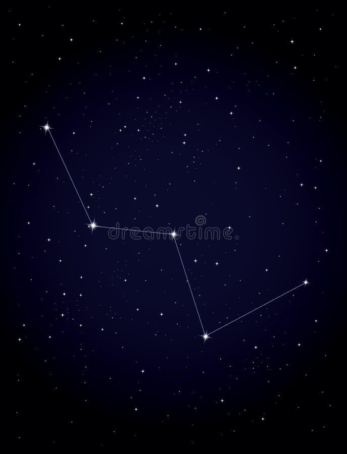 Cassiopeia da constelação ilustração royalty free