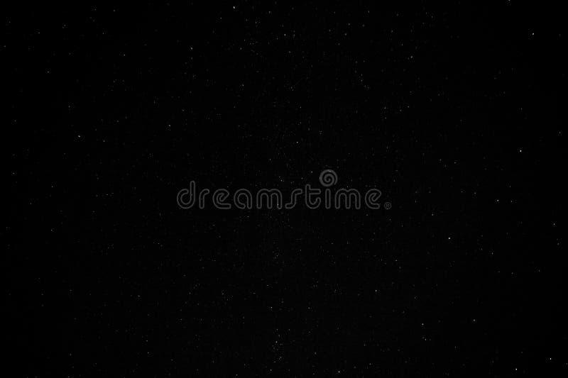 Cassiopeia da constelação, céu estrelado, Via Látea foto de stock