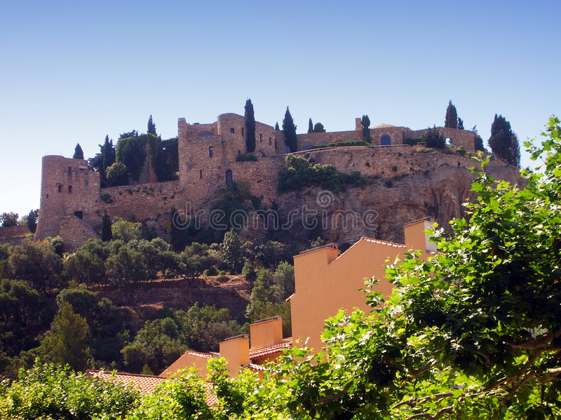 Download Cassis castle - France stock photo. Image of army, clouds - 5758852