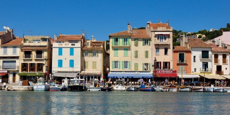 Cassis ein Fischerdorf in Frankreich stockbild