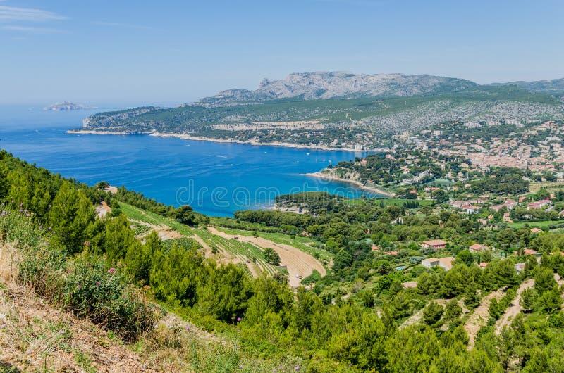 Cassissen in de Provence, Frankrijk royalty-vrije stock foto