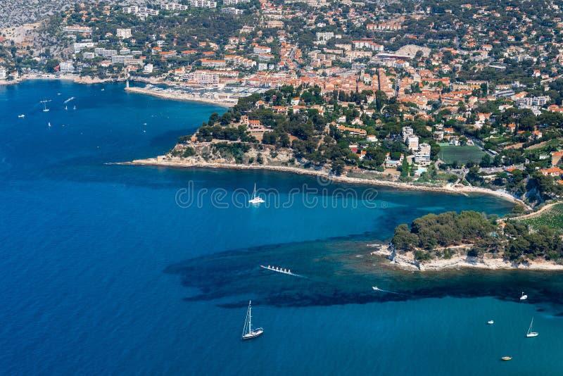Cassissen en de Middellandse Zee, Frankrijk stock fotografie