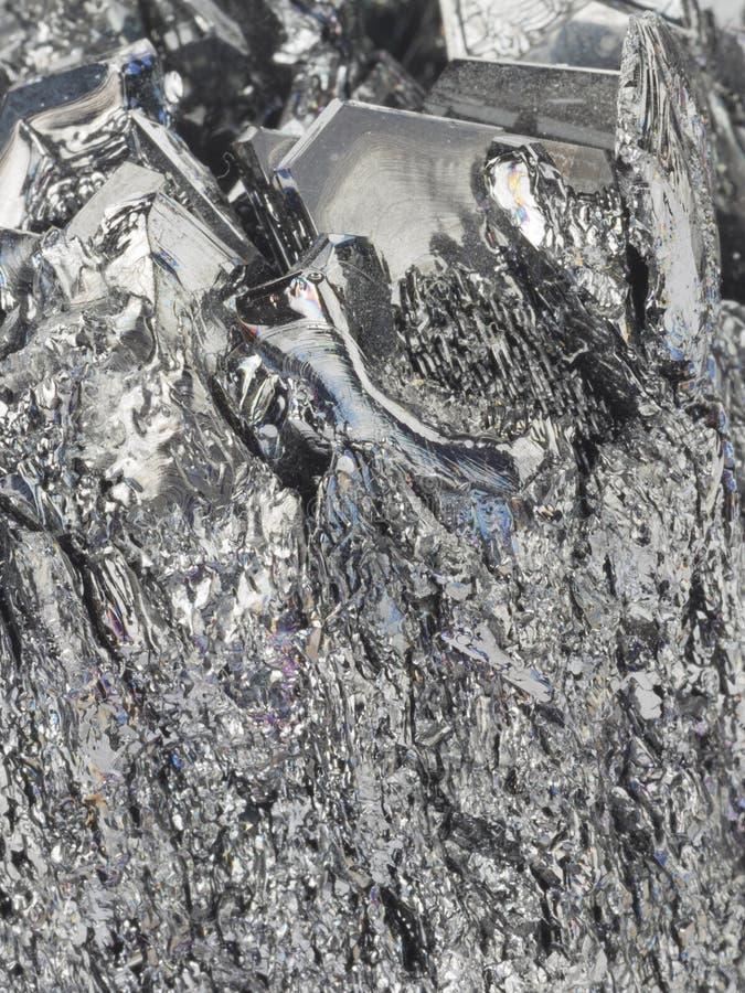 Cassiterite de pedra preto natural imagem de stock royalty free
