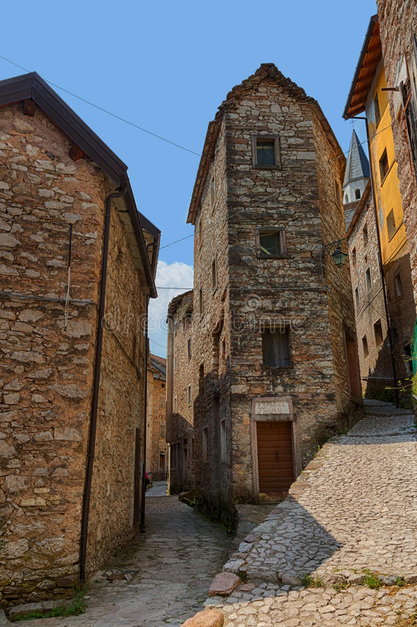 Casso. Cas in local dialect, Sćjas in Friulan is an Italian village, frazione of Erto e , in the Province of Pordenone. Its population is 35. The Dolomites stock photos
