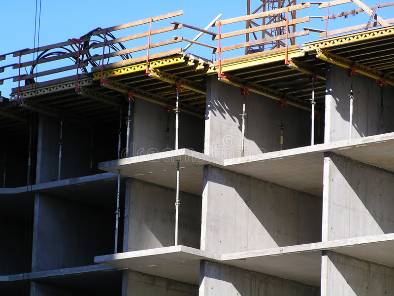 Download Cast concrete structure stock image. Image of assembling - 3341545