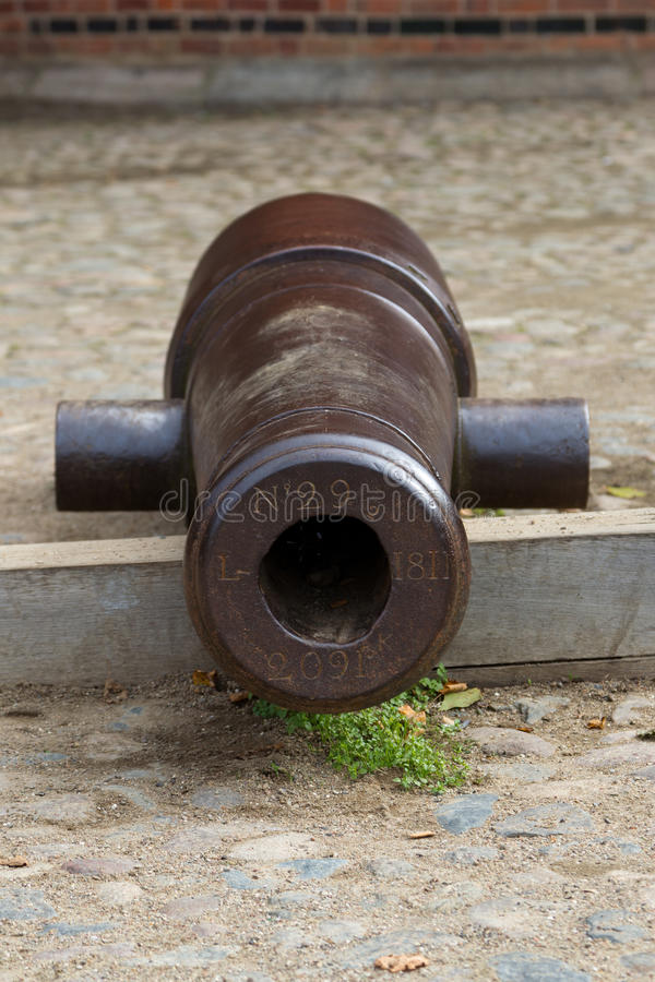 Cast iron cannon royalty free stock images
