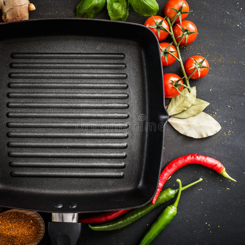 Cast iron griddle royalty free stock image