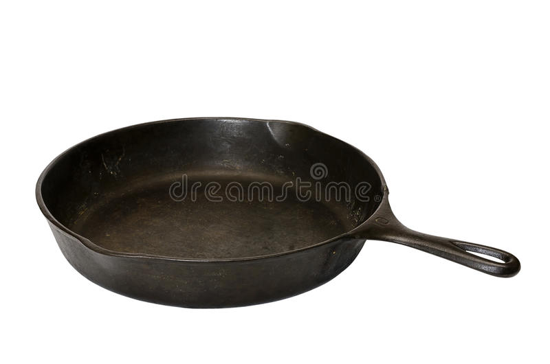 Cast Iron Skillet Isolated Royalty Free Stock Images