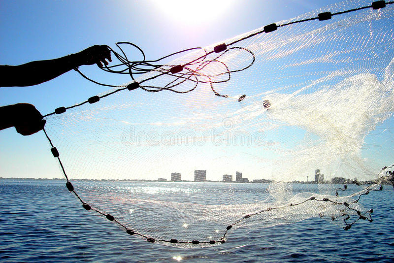 Cast Net Royalty Free Stock Photo