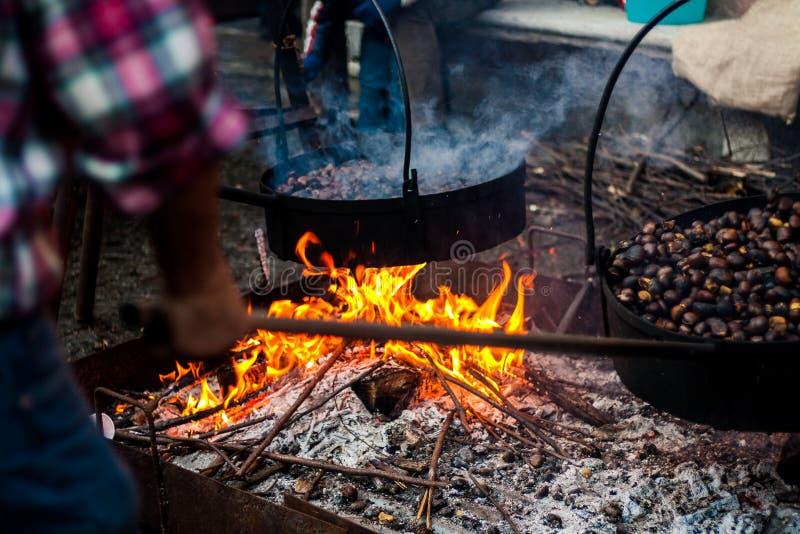 Download Castañas foto de archivo. Imagen de cooking, invierno - 41900702