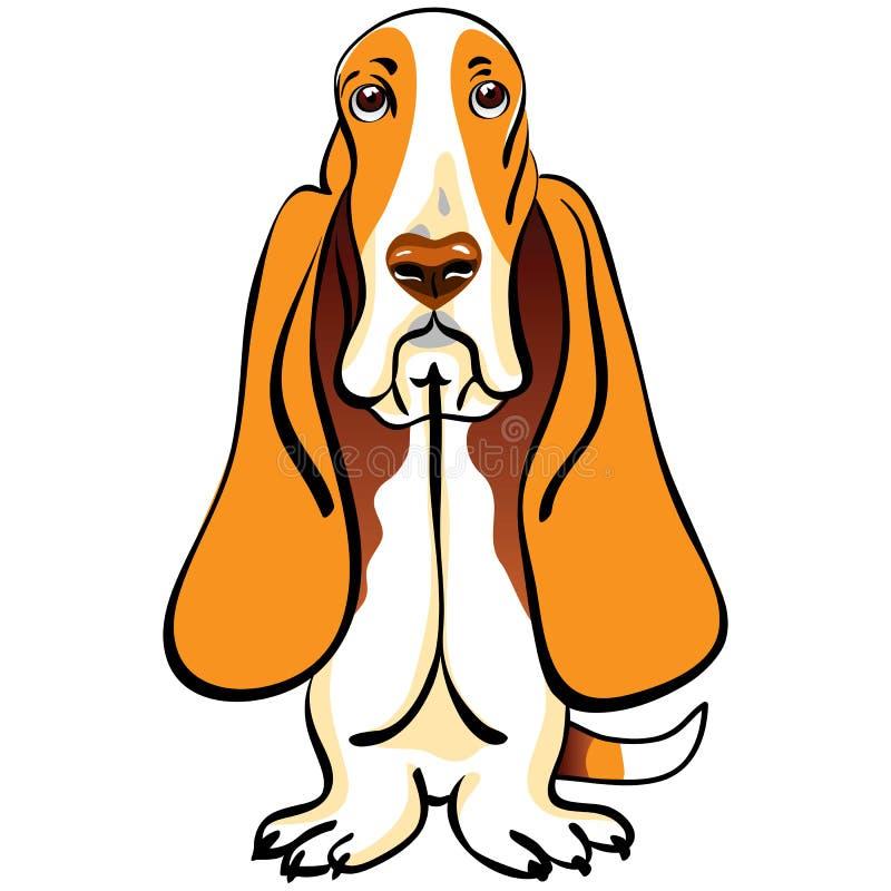 Casta del perro de afloramiento del perro de la historieta libre illustration