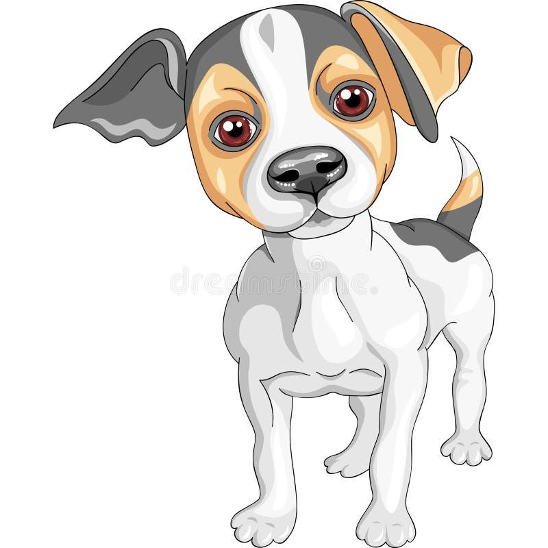 casta del terrier de Gato Russell del perro del bosquejo del vector ilustración del vector