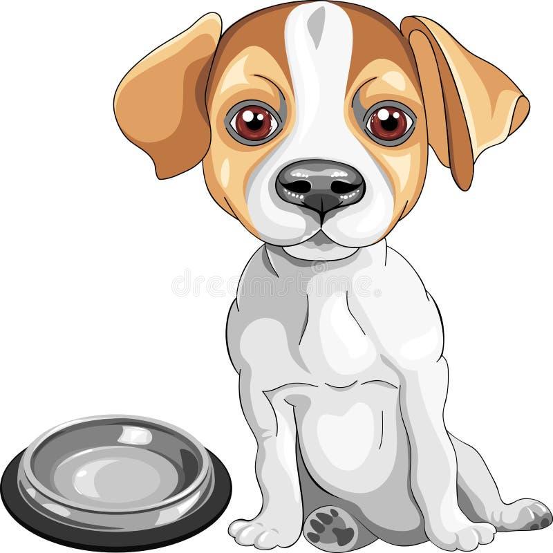 casta del terrier de Gato Russell del perro del bosquejo del vector stock de ilustración