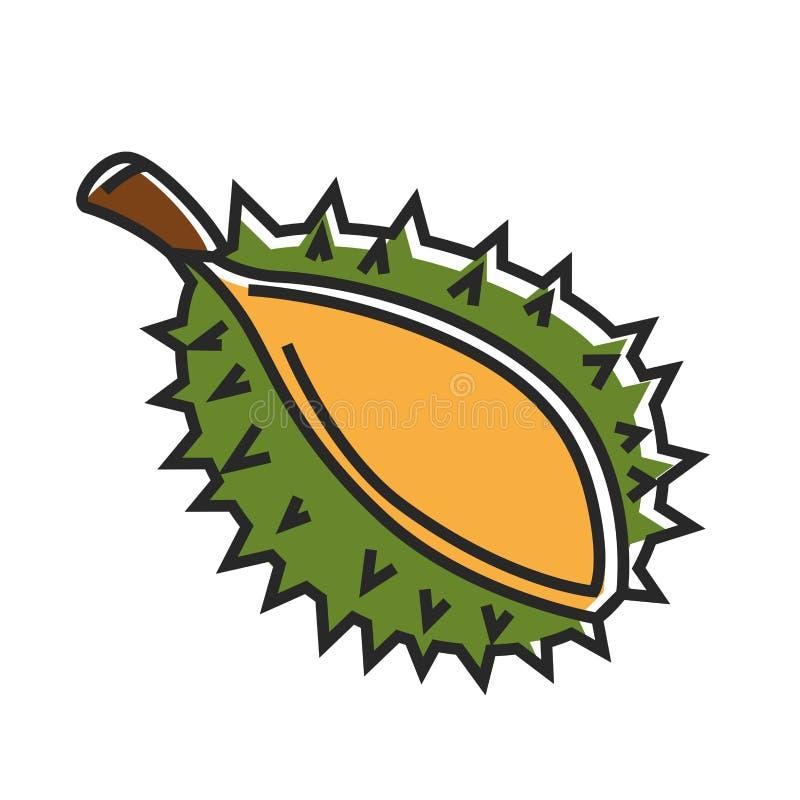 Castagna con le coperture appuntite verdi ed il piccolo ramo illustrazione di stock