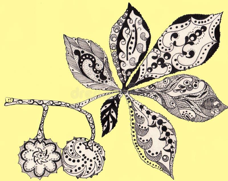 Download Castagna Della Foglia, Siluetta, Inchiostro, Penna, Modello, Monocromatico Illustrazione di Stock - Illustrazione di colorato, elegante: 55362080