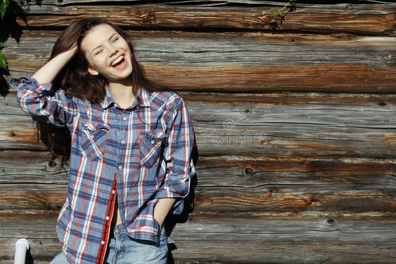 castana nello stile rustico fotografia stock libera da diritti