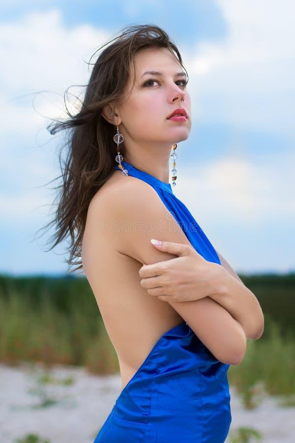 Castana sexy di fascino fotografia stock libera da diritti