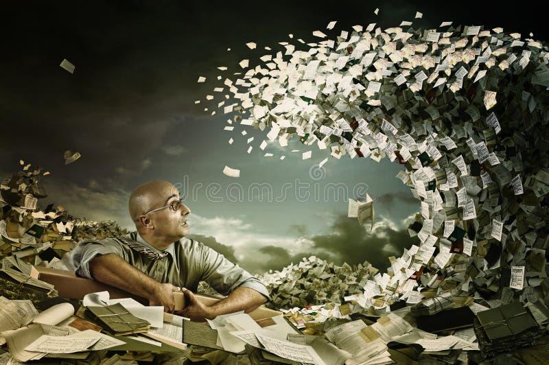 Download Castaway in bureaucracy stock photo. Image of businessman - 24564422