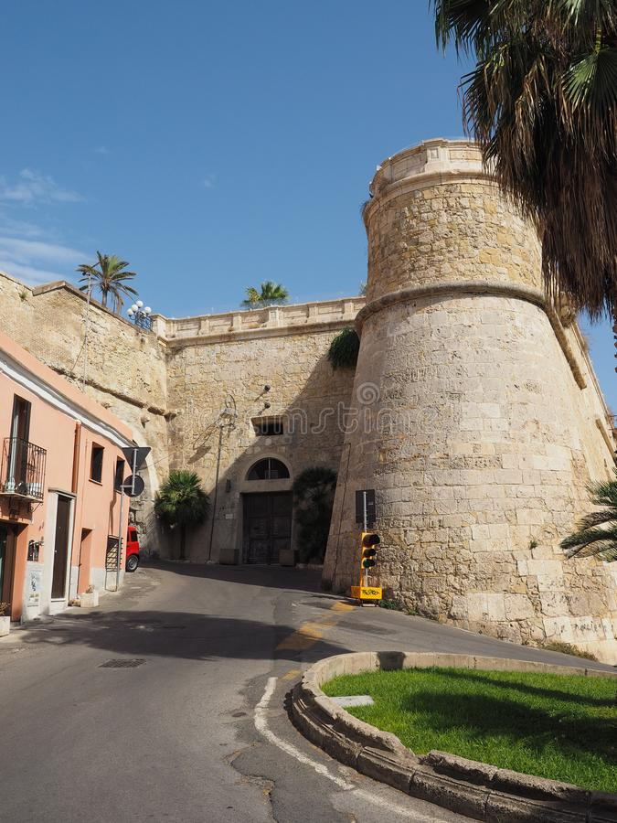 Casteddu (meaning Castle quarter) in Cagliari. CAGLIARI, ITALY - CIRCA SEPTEMBER 2017: Castello quarter aka Casteddu e susu (meaning Upper Castle in Sard) old royalty free stock photography
