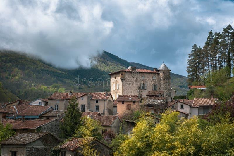 Castel在法国南部 库存照片