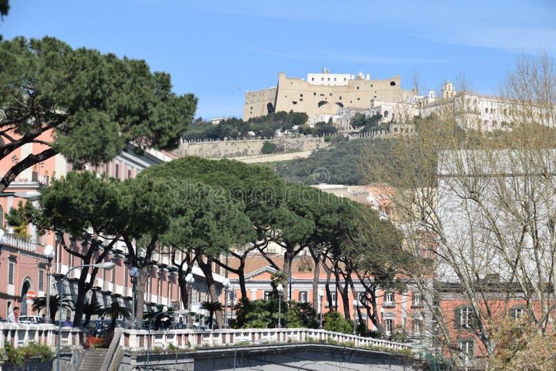 Castel桑特'艾蒙,那不勒斯,意大利 库存照片