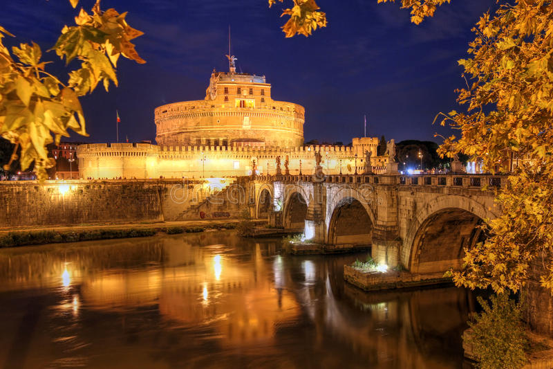 castel Италия rome angelo sant стоковое изображение