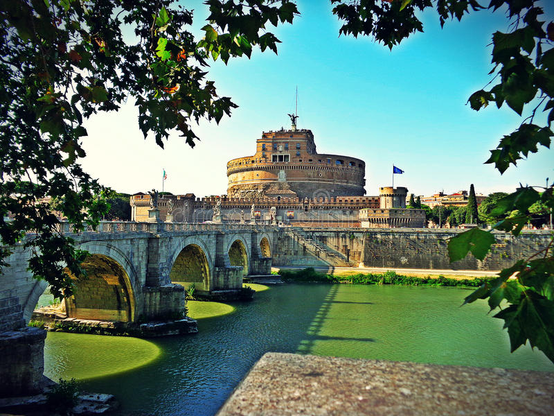 Castel Angelo Italië stock foto's