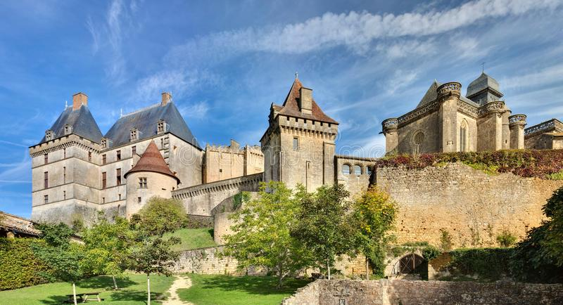 Castel Biron - Dordogne - της Γαλλίας στοκ φωτογραφία με δικαίωμα ελεύθερης χρήσης