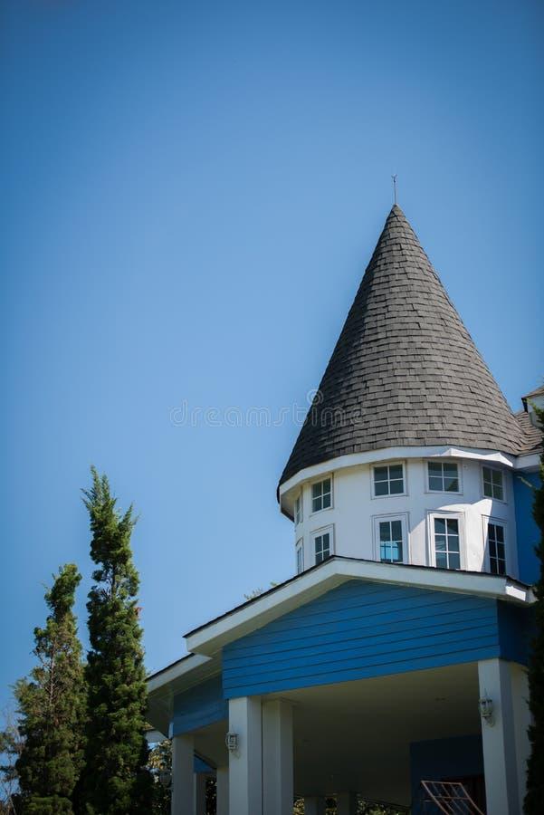castel blue stock image