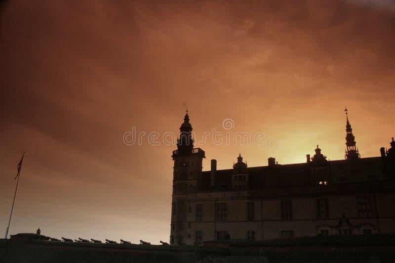 Castel de Kronborg, silueta imágenes de archivo libres de regalías